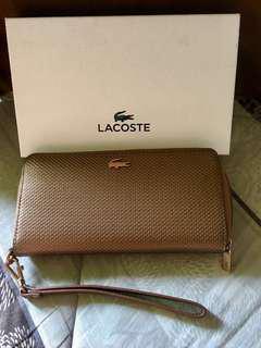 Original LACOSTE zippy long wallet