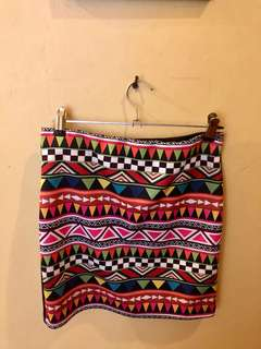Aztec pencil skirt!
