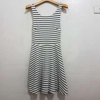 American Eagle Outfitters Stripe Cutout Dress