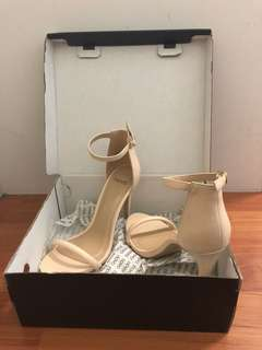 Nude Strapped Heels