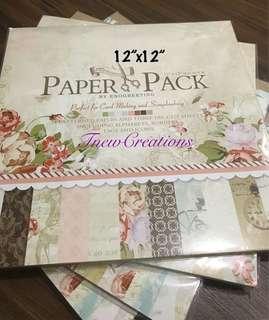 Scrapbook paper pad