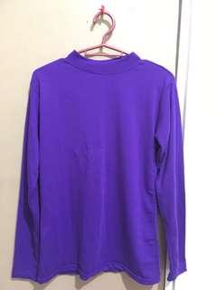 Long sleeves shirt violet