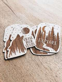 Wooden Stickers