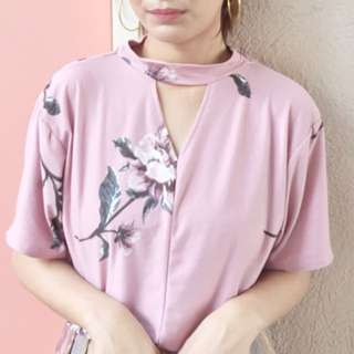 Floral Pink Top
