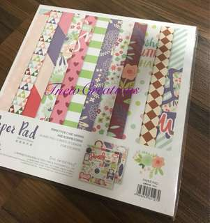 Scrapbook paper pad (25.5cm x25.5cm )