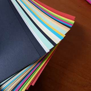 Whole set of colour paper