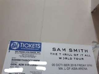 Sam Smith Live in Manila: General Admission Ticket