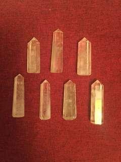 天然白水晶5-7cm一个
