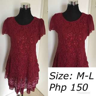 Lacedress with sequins