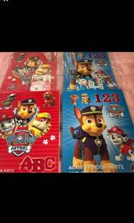 Instock Paw patrol activity book 123/ABC brand new book is $4 each if take set w crayon will be $4.90 each