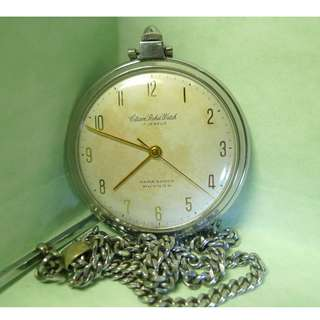 1960s' Large Size Citizen Pocket Watch 17-J Para Shock Phynox , mechanical hand-winding