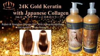 24k Gold Keratin with Japanese collagen
