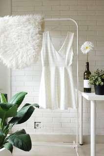 Squared V-Neck Dress