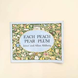 Each Peach Pear Plum Paperback Book by Janet and Allan Ahlberg