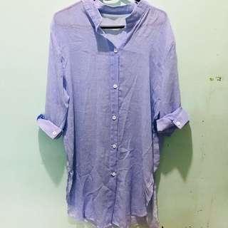 Korean striped blouse