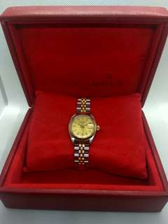 Rolex Half Gold 18 k ladies watch LV Prada CK Hermes Dior Omega Cartier Ramadan offer Hari Raya Armani Cartier