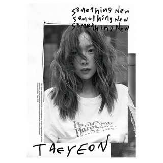 [Pre-Order] TAEYEON 태연 3RD MINI ALBUM (3RD 미니앨범) - SOMETHING NEW