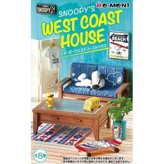 PRE-ORDER : Re-Ment ** Peanuts - Snoopy's West Coast House (Box of 8)