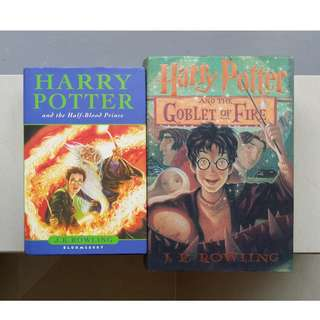 Harry Potter books by J.K.Rowling
