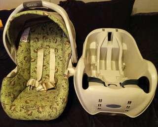 美國Graco推車加提籃式安全坐椅(加拿大帶回)二手賣出