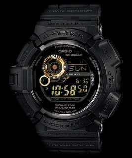 Casio G-Shock G-9300GB-1 Mudman Tough Solar