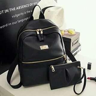 Korean 2 in 1 set backpack