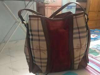 Used 7/10 condition Authentic Burberry Haymarket Autumn Color