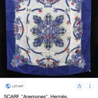 Hermes Paris Silk Scarf