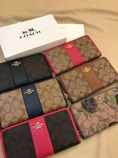 Original coach women ready Stock Wallet