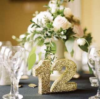 Glitter Table Numbers ONE WHOLE BAG