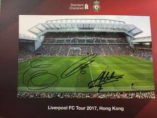 Liverpool 利物浦HK Tour 2017 Milner 等球星簽名
