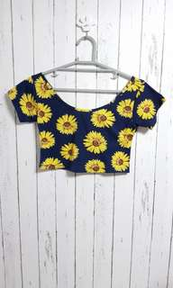 H&M sunflower croo top