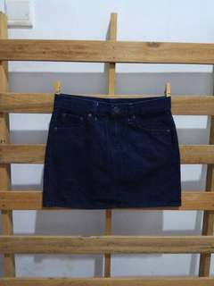 Denim woman skirt