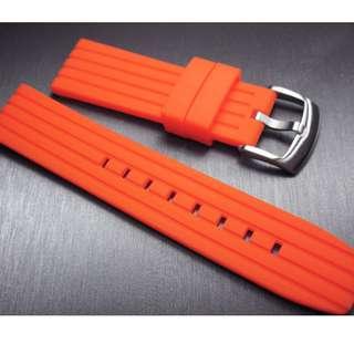 22mm錶帶 OAD防粘毛 膠帶 ROLEX TUDOR IWC OMEGA SEIKO (ref:2220膠帶橙色B)