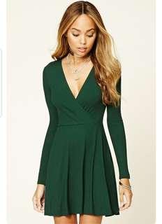 Forever 21 Green Wrap Dress