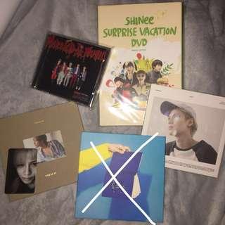 Shinee albums/dvd