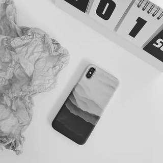 免郵2018新款冷淡風意境大山超薄全包手機殼男女款 iPhone Case