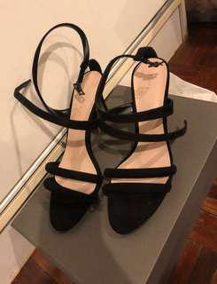 BN Black Strappy Heels Charles & Keith