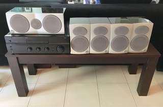 Sherwood 400 watt amplifier and Athena speakers