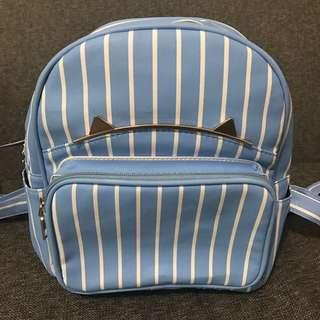 tas backpack baby blue stripe