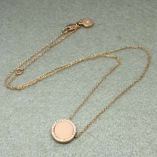Michael Kors Sample Necklace 粉紅色配玫瑰金色閃石頸鏈