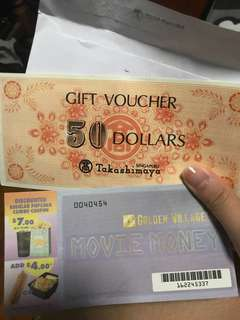 Takashimaya + Golden village voucher