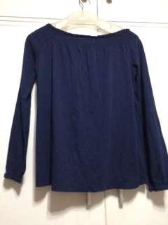 Navy blue long sleeved shirt