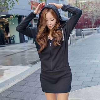 Hoodie Dress Korean Fashion On hand Y