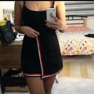 black sporty skirt