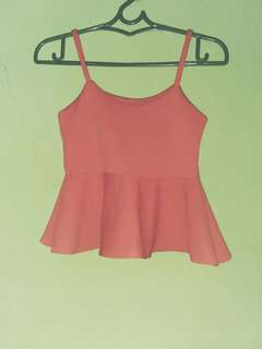 Pink cute sleeveless top