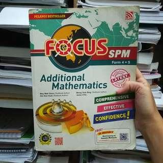 Focus Additional Mathematics Spm book