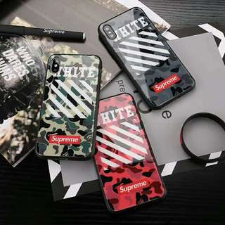 Off white x Bape x Supreme iPhone Case for iPhone x/6/7/8