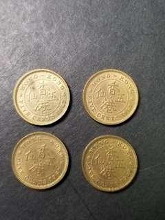 1967香港伍仙四枚