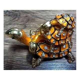 Stack of 3 Golden Tortoise fengshui  turtles